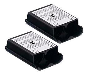 Kit 2 Tampa Pilhas Capa Bateria - Controle Xbox 360 - Preto