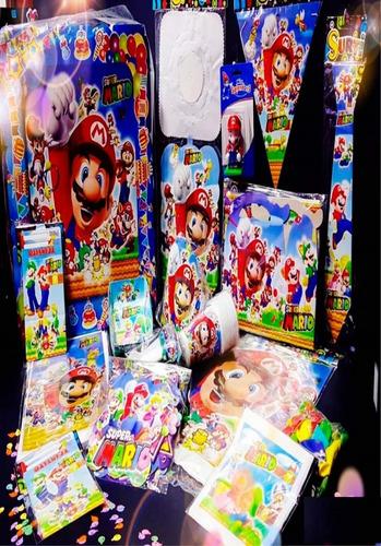 Kit Decoración Piñata Fiesta Infantil Mario Bros Economico