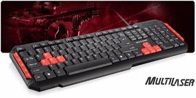 Teclado Gamer Multilaser Teclas Multimídia Vermelhas. Usb