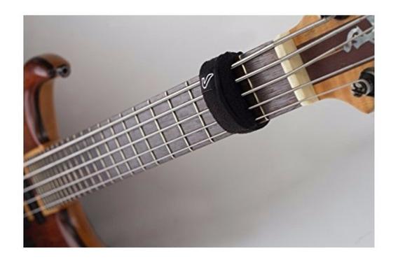 Fretwrap Abafador De Cordas Preto Para Baixo E Guitarra