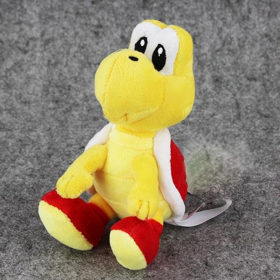 Boneco Pelúcia Koopa Troopa 17 Cm Super Mario Nintendo Verme