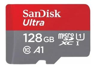 Cartao Sandisk Microsd 128gb Ultra 100mb/s Galaxy S8 S9 J7