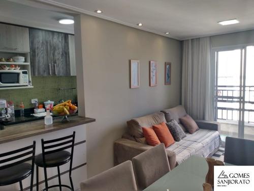 Imagem 1 de 19 de Apartamento A Venda No Bairro Vila Assis Brasil Em Mauá - Sp. - Ap01884 - 69896286