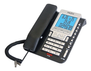 Teléfono Alámbrico Mt-888 Identificador Llamadas Misik