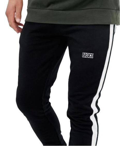 Joggers De Caballero Basico Clothes Tela Gruesa Negrodoble