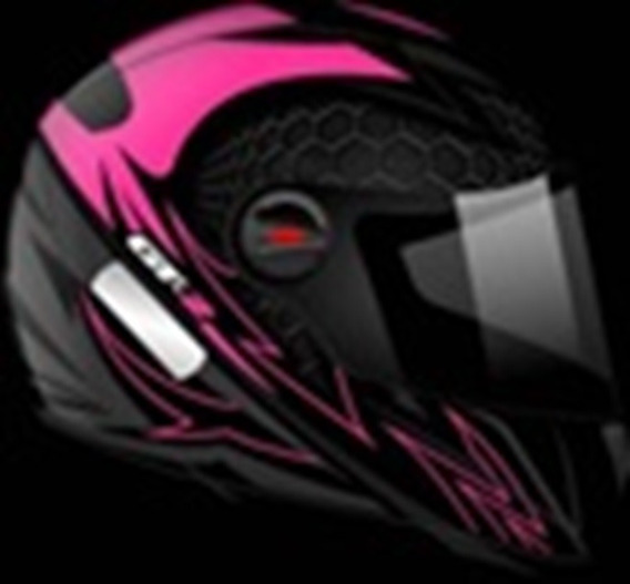 Capacete Gt-2 Preto Fosco-rosa Neon Tamanho 58