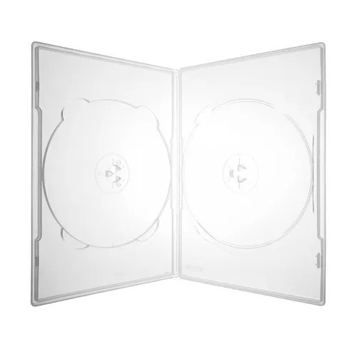 100 Estojo Slim Capa Dvd Box Amaray Duplo Fino Transparente