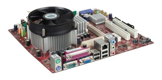 Kit Placa Mãe 775 Ddr2 + Intel Dual Core + 2gb + Cooler