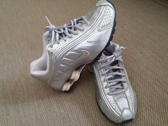Tênis Nike Shox Feminino Prata 34 Original
