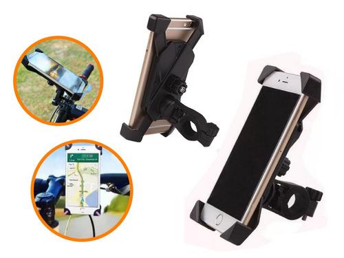 Imagen 1 de 8 de Soporte Celular Bicicleta Moto iPhone 6 Samsung J7 Huawei