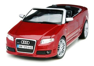 Miniatura Carro Audi Rs4 Conversível Borgonha 1:18 Maisto