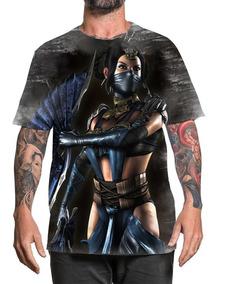 Camiseta Camisa Personalizada Game Mortal Kombat Kitana 2