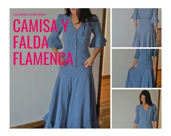 Camisa Y Falda Flamenco- Folclore Usada