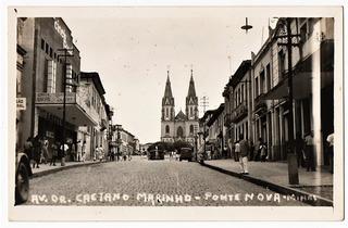 Cartao Postal Fotografico Ponte Nova - Mg - Anos 40