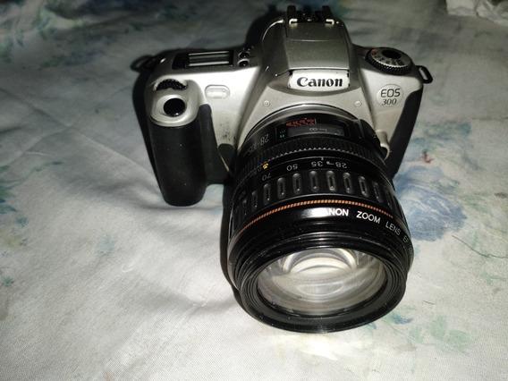 Câmera Analóg Canon Eos 300 + Lente Zoom 28-105mm Ultrasonic