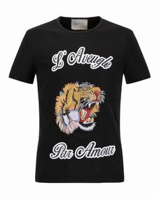 Camiseta Gucci Bordado Importado A Pronta Entrega