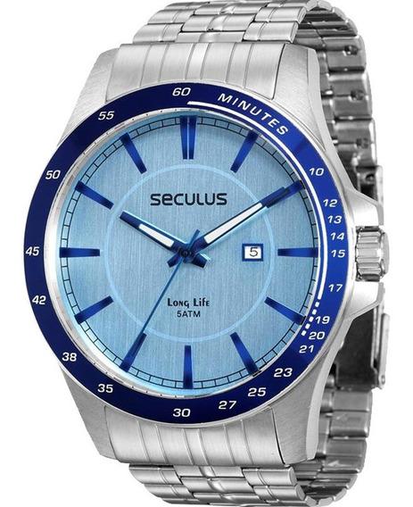 Relógio Seculus Masculino Long Life 28785g0sgna1 Garantia Nf