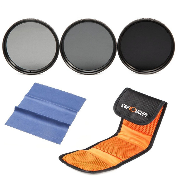Kit Filtros 67mm Nd2 Nd4 Nd8 Hd P/ Canon Nikon Sony