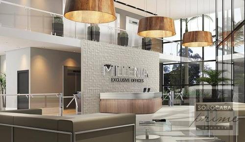 Andar Corporativo À Venda, 200 M² Por R$ 1.350.000 - Edifício Millenia Exclusive Offices - Sorocaba/sp. - Ac0003