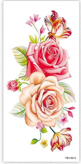 Tatuagem Temporária, Flores, Rosas, Tatuagem Para Barriga