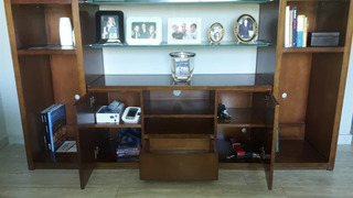 Mueble Biblioteca Tv Fontenla Con Luces Led