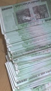 Cédula Dollar Zimbábue Originais - 50 Trilhões