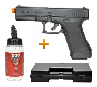 Pistola Airsoft Glock G7 Kwc Spring 6.0 + 2.000 Bbs + Maleta