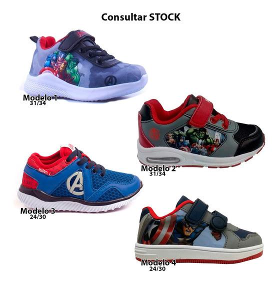 Zapatillas Marvel Spiderman Iron Man Hulk Capitan Mmk 495