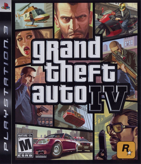 Jogo Grand Theft Auto Iv 4 Playstation 3 Ps3 Mídia Física