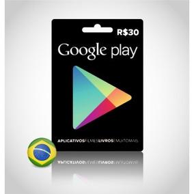 Vale Presente Play Store R$ 30,00
