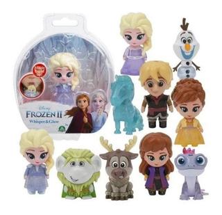 Combo X 9 Muñecos Frozen 2 Whisper & Glow Sopla Y Se Ilumina