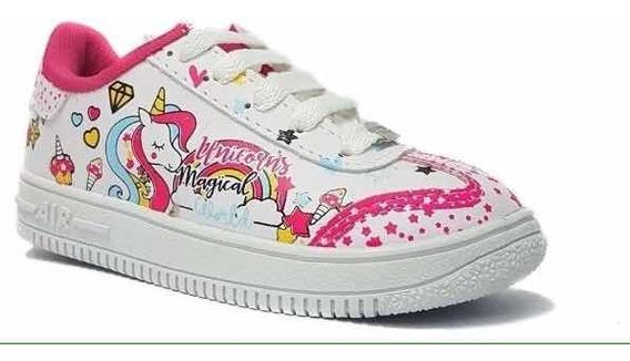Hermosas Zapatillas Unicornio Para Niñas/nenas Talle 27 Al 34