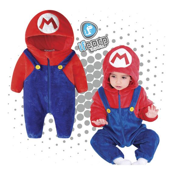 Kigurumi Mameluco Bebe Super Mario Bros Pijama Cosplay