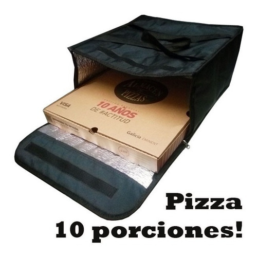 Bolso Termico Delivery Pizzas Gigantes Medidas 42 X 42 X 22