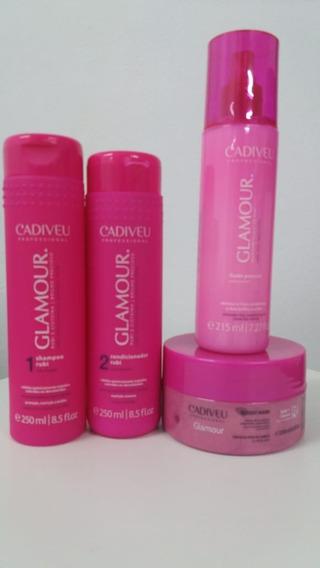 Kit Cadiveu Rubi Glamour Tratamento Milagroso 4 Produtos