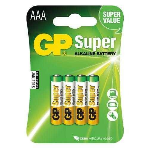 Pilha Super Alkaline Original Gp 1,5v Aaa Com 4 Unidade