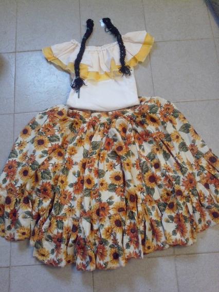 Vestidos Danzas Folklore O Disfraz De Campesina Para Niñas