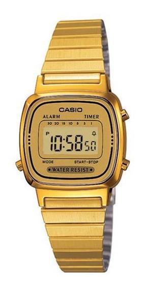Relógio Feminino Digital Casio La670wga-9df - Dourado