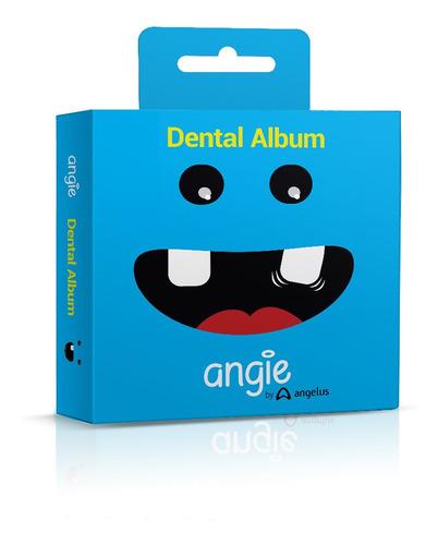 Imagem 1 de 5 de Porta Dente De Leite / Dental Album Premium Angie - Azul