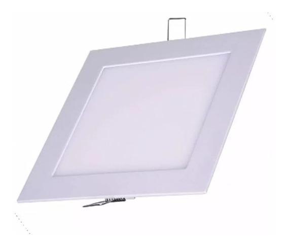 Painel Slim Quadrado Embutir Led 24w Bivolt 6000k Luz Branca