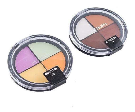 Heburn Kit X2 Cuartetos Correctores Maquillaje Cremosos 305