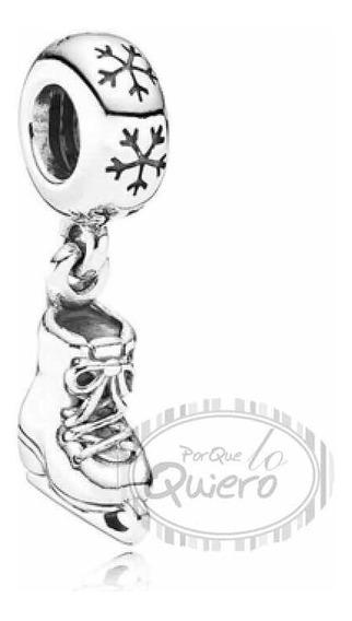 Charm 100% Plata Patinaje Artístico Hielo Patines Pandora