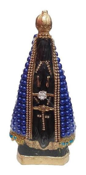 Imagem Nossa Senhora Aparecida Azul Padroeira 20 Cm