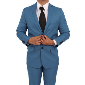 Terno Slim Masculino 100% Poliester 9 Cores + Camisa Social