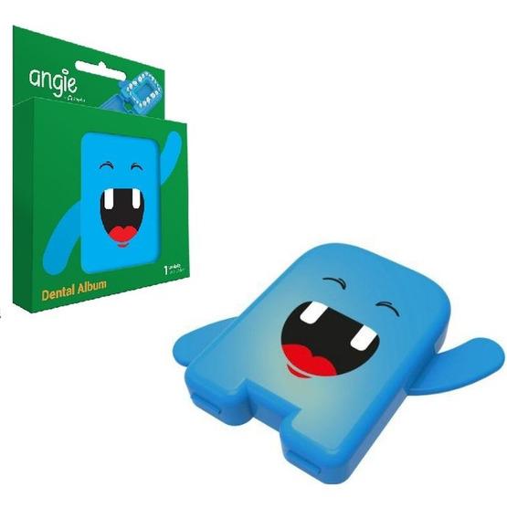 Estojo Porta Dente De Leite Azul Angie
