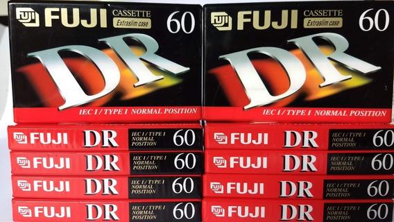 Kit 10 Fita K7 Fuji Dr 60 - Novas E Lacradas