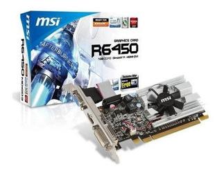 Msi Ati Radeon Hd6450 1 Gb Ddr3 Vgadvihdmi Tarjeta De Video