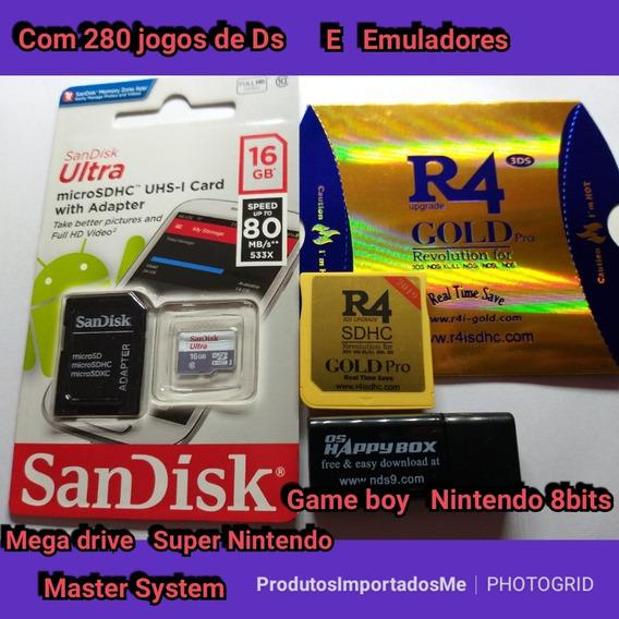 Cartão R4 Goldpro Versão 2019 16gb 280 Jogos 3ds/2ds/dsi/ds