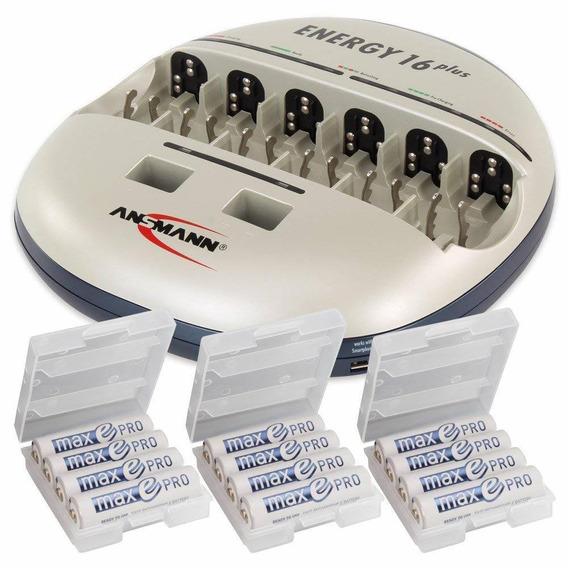 Ansmann Energy 16 Plus - Cargador De Batería Para Aa Aaa C D