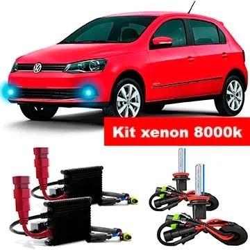 Kit Xenon Farol De Milha Gol Voiage G6 H11 12000k +brinde